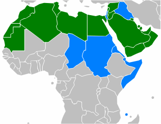 Distribution of Arabic as official language