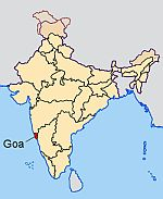Map Of India Showing Goa