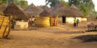 African Village somewhere in sub-saharan Africa