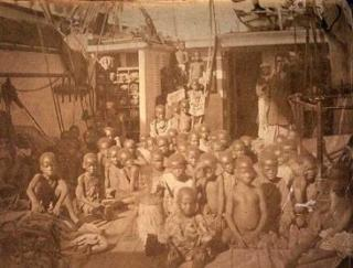 Slave Children On A Ship