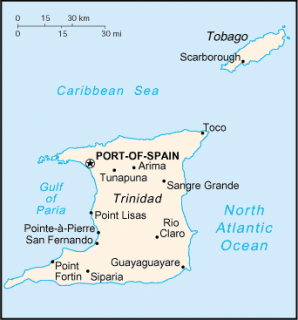 Map Trinidad & Tobago